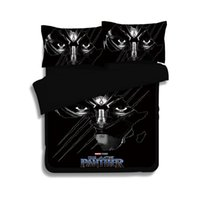 Wholesale white full bedroom set - 2018 New 3D Bedding Set Black Panther Pattern Duvet Cover Set Polyester Printed Bed Linens Bedroom Twin Full Queen King Size