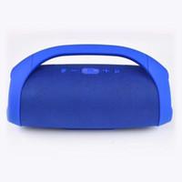 Wholesale mini bluetooth speaker online - 2018 Mini Boom Box Outdoor HIFI Bass Column Speaker Wireless Bluetooth Speaker Boombox Bluetooth Wireless Speaker Stereo Audio
