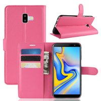Wholesale For Samsung Galaxy Note9 A7 A750 J6 J6 Prime J4 J415F J4 Plus J2 core Litchi Skin Flip Wallet Card Leather Case Stand Holder Cover