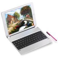 алюминиевый беспроводной bluetooth ipad оптовых-Ультра тонкий алюминиевый сплав съемный беспроводная клавиатура Bluetooth для iPad Pro 9.7 дюймов клавиатура обложка протектор