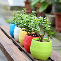 Wholesale colorful garden tools for sale - Group buy Gardening Flower Pots Small Mini Colorful Plastic Nursery Flower Planter Pots Garden Deco Gardening Tool