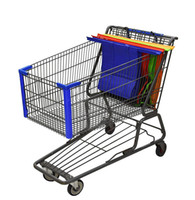 Wholesale fashion shopping cart - Cart Trolley Supermarket Shopping Bag recycling Grocery Grab Shopping Bags Foldable Tote Eco-friendly Reusable Supermarket Bags