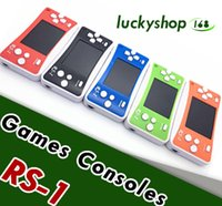Wholesale pvp video game resale online - RS Handheld Game Consoles Mini Protable Game Players Color Video Game Children Gifts Classic Games Box Also Sale PXP3 PVP GB NES SFC Games
