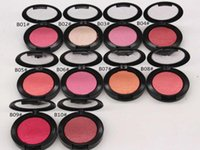 ingrosso trucco perle di arrossire-Hot Powder Shimmer Blush Powder Shimmer Rosa Swoon Peaches rouge 10 Color Pearl grooming fard Prezzo di fabbrica Party Makeup 6g
