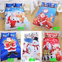 Wholesale santa claus bedding christmas for sale - Group buy Christmas Bedding Sets D Printed set Duvet Cover Pillowcases Santa Claus Snowman Christmas Decoration Gift Free DHL HH7