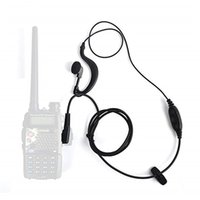 walkie tyt al por mayor-C024 Auriculares PTT de 2 pines con micrófono para dos walkie-talkies Modo QUANSHENG PUXING WOUXUN tyt BAOFENG UV5R 888S