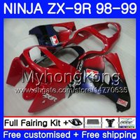 Wholesale 98 zx9r fairing red for sale - Red blue frame Body For KAWASAKI NINJA ZX900 ZX9 R ZX ZX R HM CC ZX R ZX9R ZX R Fairing kit