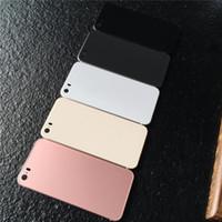 ingrosso back cover iphone 5s style-Per Iphone 5s Custodia in acciaio per batteria bianca nera stile 8 per iPhone 5s SE come 8 Mini custodia posteriore con logo