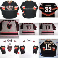 Wholesale polyester beans resale online - CALGARY HITMEN BLACK WHITE HOCKEY JERSEY Mens Tomanek Wright Jake Bean Embroidery Stitched Customize any number and name Jerseys