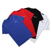 ingrosso cotone di marca-Uomini di marca di alta qualità T shirt casual manica corta o-collo di modo Lettera maglietta degli uomini