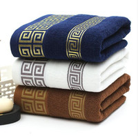 grandes serviettes de toilette achat en gros de-Serviettes de bain en coton doux Grand bain absorbant visage de plage Serviette en coton Salle de bains à la maison Hôtel pour adultes Enfants