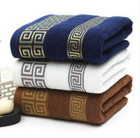 toalhas venda por atacado-Toalhas de Banho de Algodão macio Grande Absorvente Bath Beach Face Toalha De Algodão Casa de Banho Do Hotel Para Adultos Crianças