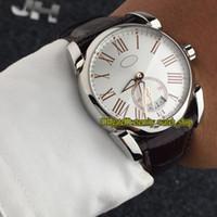ingrosso orologi da polso in pelle bianca-Di alta qualità di lusso nuovo TONDA PF012508.01 grande quadrante bianco quadrante automatico meccanico orologio da uomo cassa d'argento cinturino in pelle orologi sportivi 04