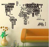 papel de carta grande venda por atacado-NOVA Carta Cartaz Vintage Grande Mapa Do Mundo Decoração de Casa Detalhada Ensino Papel De Carta Gráfico Mapas De Borracha Natural