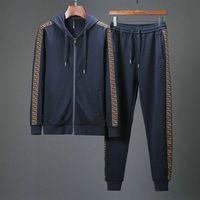 billige blaue kappen großhandel großhandel-2018 neue Männer Casual Anzug Paris Herren Sportswear Militär grün blau grau billig Großhandel Herren Pullover Hosenanzug Kappe 22