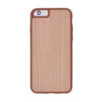 американская броня оптовых-Случаи телефона с естественной бамбуковой крышкой зерна древесины TPU защитная задняя оболочка для iPhone 6/6s/7/7s / 8 plus