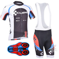 Wholesale cube cycle shorts - 2017 Tour de France CUBE team Summer Cycling Jerseys Ropa Ciclismo Breathable Bike Clothing Quick-Dry Bicycle Sportwear Short sleeves