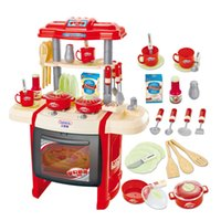 Wholesale Country Kitchen Sets - Hot sale educational toys baby kitchen toys child cooking children pretend play set 50 country free shipping TY12