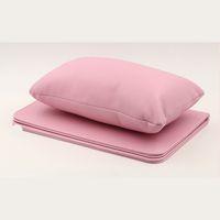 almofadas cor de rosa venda por atacado-1 Conjunto Prego Mão Travesseiro Titular Bra Suporte De Couro PU Repousa Rosa / Brown Almofada Care Salon Manicure Ferramenta