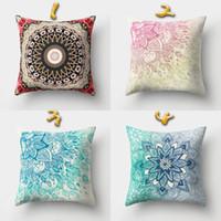 Wholesale decorative bohemian pillows - 16 Styles 45*45cm Bohemian Relief Cushion Covers Linen Bedroom Seat Decorative Pillow Home Decor Kitchen Accessories Party Decoration