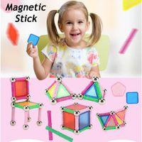 jouet de bloc de tige achat en gros de-DIY Puzzle Magnétique Bâton Intellect Rod Blocs de Construction Casse-tête Jeu Éducatif Enfants Jouet Meilleur Cadeau