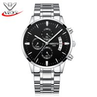 Wholesale Factory Leather Band - Couples watch steel band watch fashion black simple student personality factory wholesale personality cool quartz watch tide.