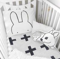 Wholesale white beds hotel rooms online - Kids Pillow Case x70cm Rabbit Arrow Baby Pillow Cover For Kids Bedding Black White Cotton Room Decorative Cushion Pillowcases