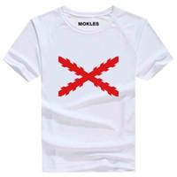 Wholesale spain clothing resale online - SPANISH EMPIRE t shirt free custom made name spain imperio t shirt burgundy hispanic catholic monarchy print flag cross clothing
