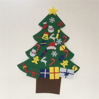 árbol de navidad colgar puerta al por mayor-Elk Snowman Diy Stereo Fieltro Puerta de Árbol de Navidad Adornos Colgantes de Pared Niños Regalos para Niños Decoración de Navidad 28wm5 gg