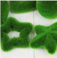 ingrosso green moss-Decorazione artificiale del partito della casa dell'ornamento di muschio delle piante verdi fresche del muschio di modo