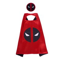 Wholesale masquerade party supplies for kids for sale - Group buy 27 inch movie costumes Satin cape with mask Villainhero for kids years masquerade party party supplies festival gifts