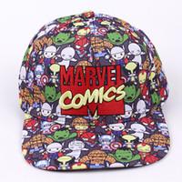 snapback hat comics venda por atacado-Marvel Comics Boné de Beisebol Das Mulheres Dos Homens Gorras Planas Snapbacks Chapéu Do Camionista Ao Ar Livre Hip-hop Snapback Caps