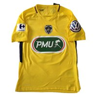 Wholesale Spun Polyester Fabric - 2018 Coupe de France Match Worn Player Cavani Neymar Jr Mbappe Path Badge Fabric and Sewing jersey shirt