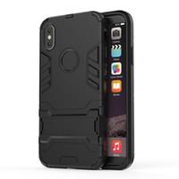 unsichtbares handy großhandel-für Iphone Iron Mode unsichtbare Halterung Handy Shell All-inclusive-Rüstung Anti-Fall-Hülle Handy-Hüllen