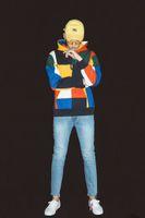 Wholesale coloured hoodies - 2018 NEW Style Hip hop High Quality 17ss Fashion Colour Sweatshirt Pullover Patchwork Hoodies Men Women Sweatshirts