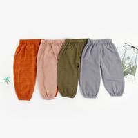 гетры синего малыша оптовых-Детские хлопковые ретро-брюки с длинными рукавами, Tide Fan Boys Хлопковые фонарики для девочек, брюки-гарем, брюки для мальчиков, брюки для девочек