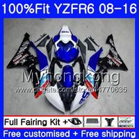rennen yamaha r6 großhandel-Einspritzung für YAMAHA YZF600 Nicht Rennen blau YZFR6 08 09 10 11 12 YZF-600 234HM.22 YZF 600 R 6 YZF-R6 YZF R6 2008 2009 2010 2012 Verkleidungen