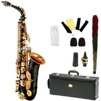 Wholesale silver alto sax - wholesale Promotions New High Quality Brand Alto Saxophone 82Z Gold Professional E Sax mouthpiece With Case and Accessories
