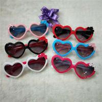 menina novos óculos de sol venda por atacado-2018 nova moda coreana óculos de sol clássico das crianças novo coração com flor óculos meninas óculos de sol