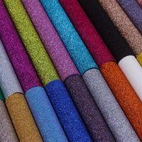 glitter wallpapers für wände großhandel-New Fine Glitter Wandtuch Druck Serie Shiny Chunky Exquisite Tapete Vliesstoff Wand Papier Einfache Durable Hohe Qualität 12by aa