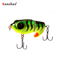 Wholesale freshwater frog lures online - 2018 new design Banshee mm g Top Water MTZ LEO Fishing lure Bait Artificial Popper Frog swimbait Whopper Plopper Y18100906