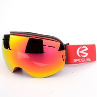 Homens Mulheres lente Dupla Anti-nevoeiro Óculos De Esqui Big Vision UV400  Óculos de Esqui Óculos de Snowboard Snowboard Esportes de Neve Snowboard 440a81aebb