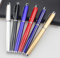 db87ea1bd Frete grátis venda quente preto   ouro   vermelho   prateado   azul cores  Canetas Gel Caneta assinatura de metal Publicidade presente negócio caneta  ...