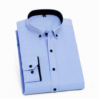 camisas brancas profissionais brancas venda por atacado-Camisas dos homens com mangas compridas camisa botão homens listrado profissional camisa branca de colarinho maré regular slim fit roupas masculinas coreano