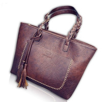 e094f75ea980 Women Vintage Bags Retro Pu Leather Tote Bag for Girls Large China Handbags  Women Tassel Casual Hand Bag Shoulder Sac Femme