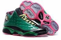 toile hautes ailes achat en gros de-Haute Qualité 13s 13 Doernbecher DB 13s Chaussures De Basket-ball Hommes Blanc Vert Ailes Baskets Avec Des Chaussures Boîte