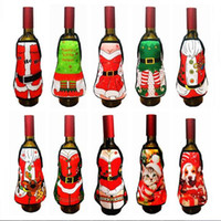 6d508196be26c Small Apron bottle Wine Cover Christmas Sexy Lady Xmas Dog Santa Pinafore  red wine bottle wrapper Holiday Bottle clothes Dress. Supplier  santi