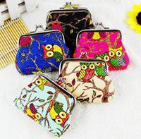 sevimli baykuş cüzdanları toptan satış-Sevimli Baykuş Desen Sikke çanta Bayan Grils Çanta Değişimi PU Para Cüzdan Kadın Para Çanta Cüzdan