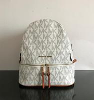 Wholesale ladies fashion rucksacks - Famous designer backpacks 2017 fashion Luxury brand women blackpack lady school bag rucksack bag charms free shipping