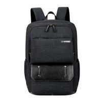 siyah 15 dizüstü bilgisayar sırt çantası toptan satış-Laptop Sırt Çantası 15 15.4 15.6 17 17.3 Inç Çok Fonksiyonlu Evrak / omuz çantası / çanta Adam Için Seyahat okul Çantası (SH676 Siyah)